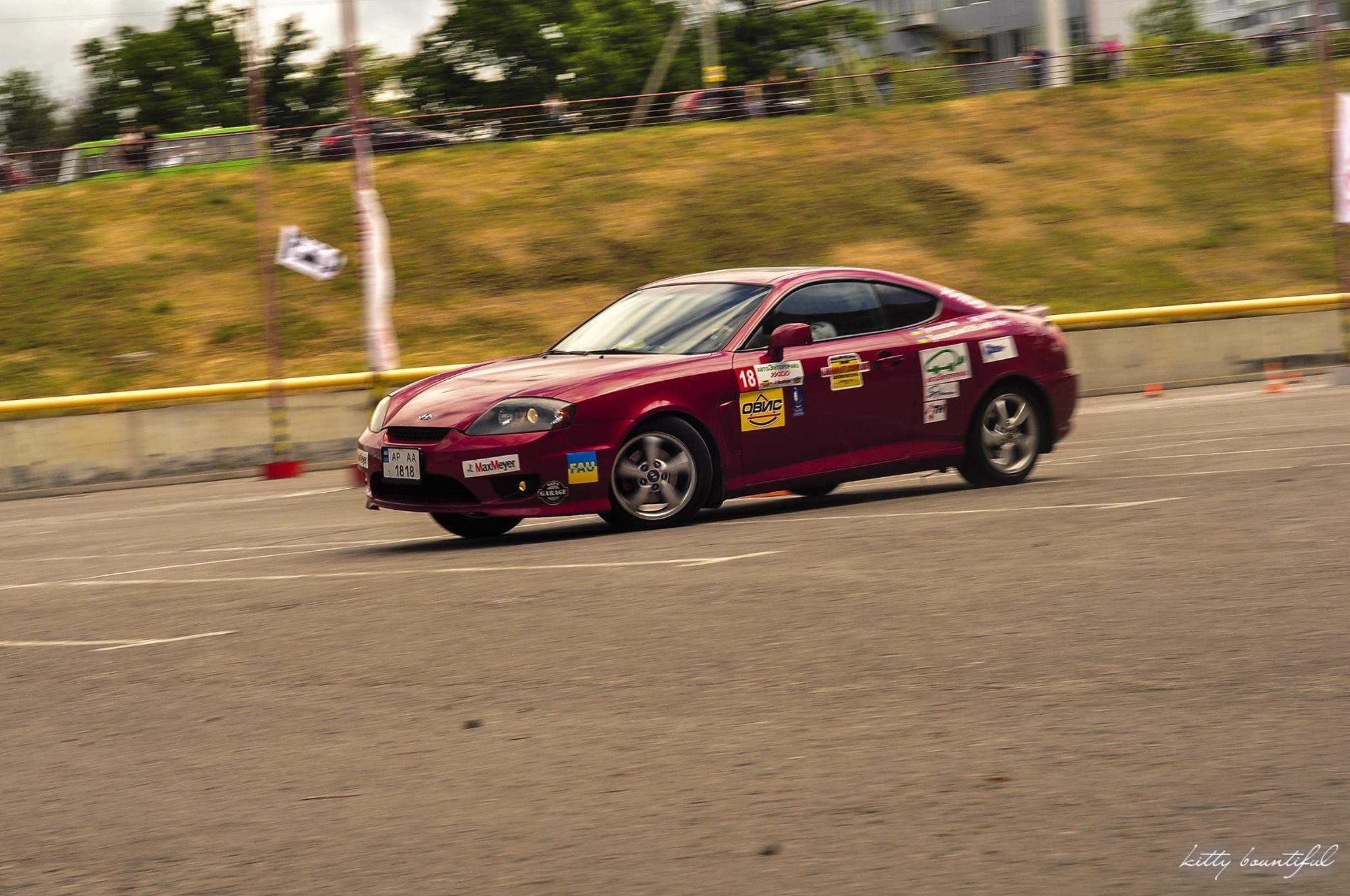 Водитель: Тимощук Александр<br/>Штурман: Набатова Валерия<br/>Машина: Hyundai Tiburon (2006г., 1975см³)<br/>Класс: N4<br/>Стартовый №: 418